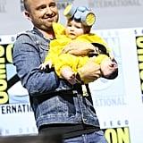 Aaron Paul's Daughter Wears Hazmat Suit at Comic-Con