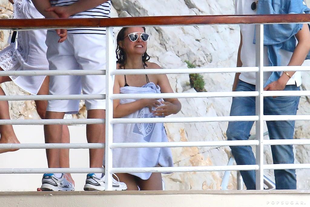 Natalie Portman Wearing Black Bikini in Cannes May 2017