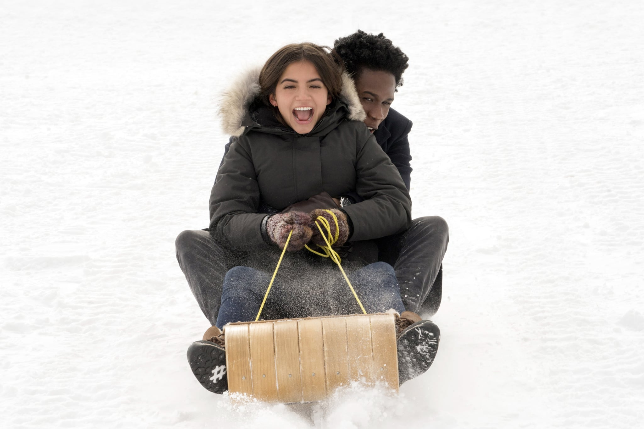 Let It Snow - Isabela Moner, Shameik Moore - Photo Credit: Netflix / Steve Wilkie