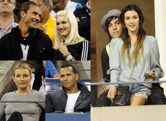 Pictures of Cameron Diaz, Alex Rodriguez, Gwen Stefani, Gavin Rossdale, Ashlee Simpson, Pete Wentz and Roger Federer at US Open