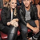 Nick Jonas With Demi Lovato at the Teen Choice Awards in 2013