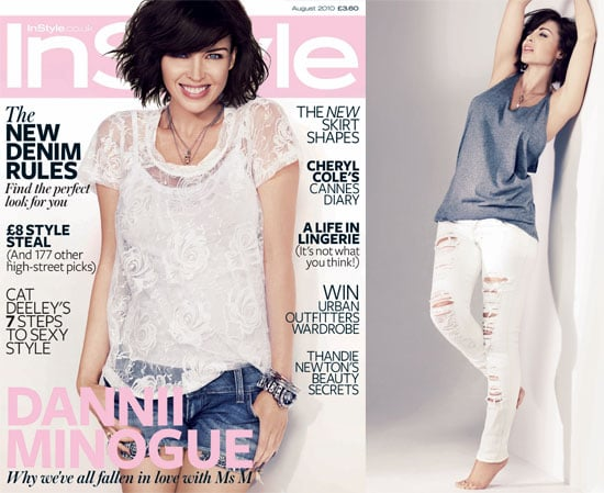 Pictures of Pregnant Dannii Minogue in InStyle Magazine UK, August 2010. Dannii Talks Pregnancy, Kris and Kylie