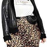 City Chic Faux Leather & Faux Shearling Aviator Jacket