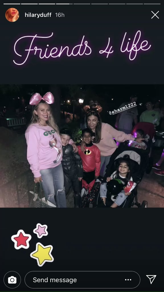 """Hilary Duff Spent Her 31st Birthday at Disneyland, and We're So Glad She """"Braved"""" It"""