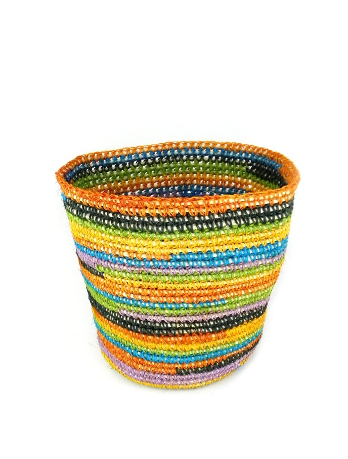 Upgrade your small storage with a natural fiber basket ($32), handwoven by artisans in South America. Its rainbow of summery hues and eco-friendly construction make it the perfect place to store magazines, toys, and toiletries.  — MW