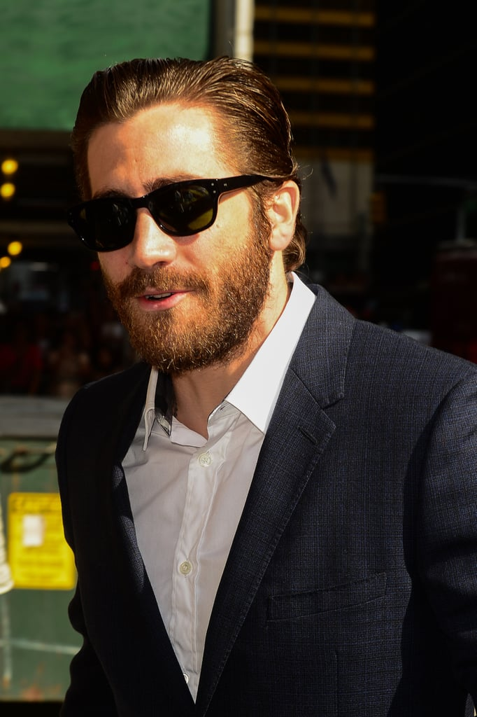 Jake Gyllenhaal sported sunglasses and facial hair in NYC ...