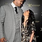 Kim Kardashian cozies up to Kris Humphries at the Kardashian Kollection launch.