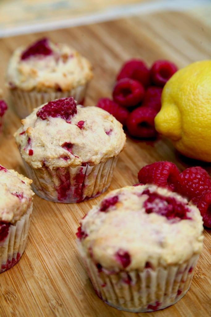 Low-Sugar, High-Protein Lemon-Raspberry Muffins