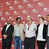 Paul Giamatti, George Clooney, Evan Rachel Wood, Philip Seymour Hoffman, and Grant Heslov at the Venice Film Festival.