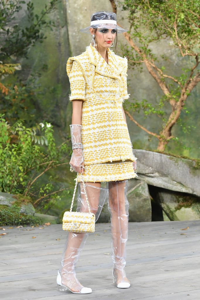 We would love to see her update her wardrobe with a touch of yellow. This sophisticated, structured suit from Chanel's Spring 2018 runway would sparkle in the sunlight.