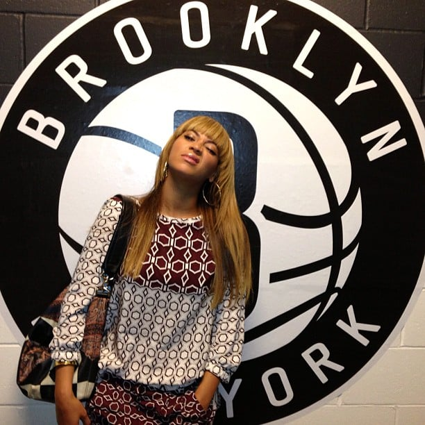 Beyoncé shared a photo from backstage at a Brooklyn Nets game. Source: Instagram user baddiebey