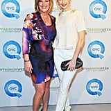 Kelly Rutherford at NY Fashion Week.