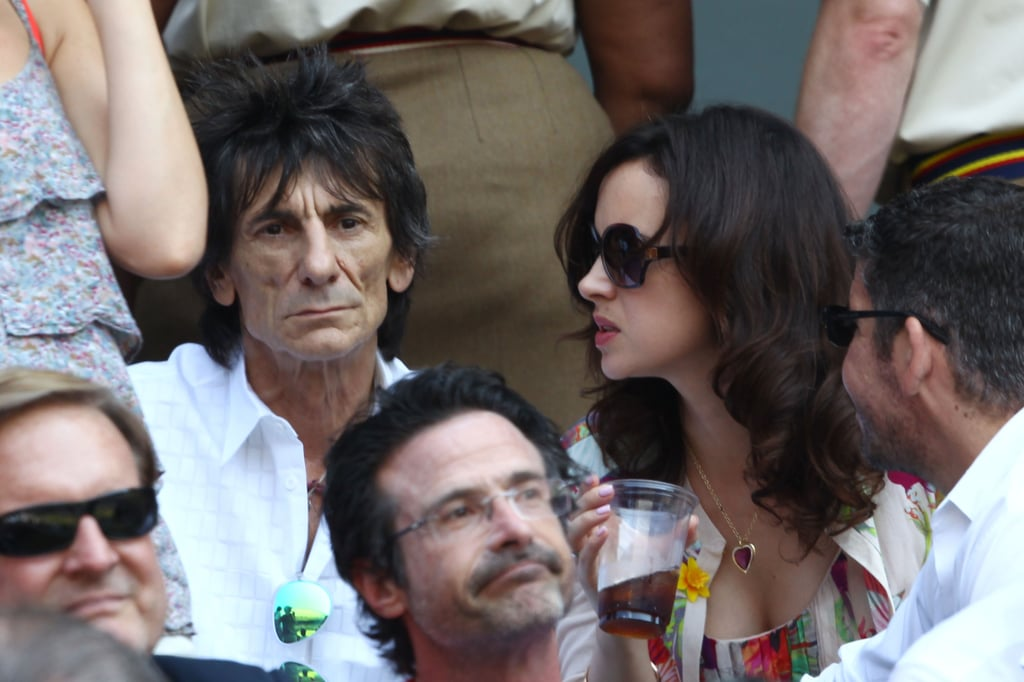 Ronnie Wood and Sally Humphreys watched the men's final on July 7.