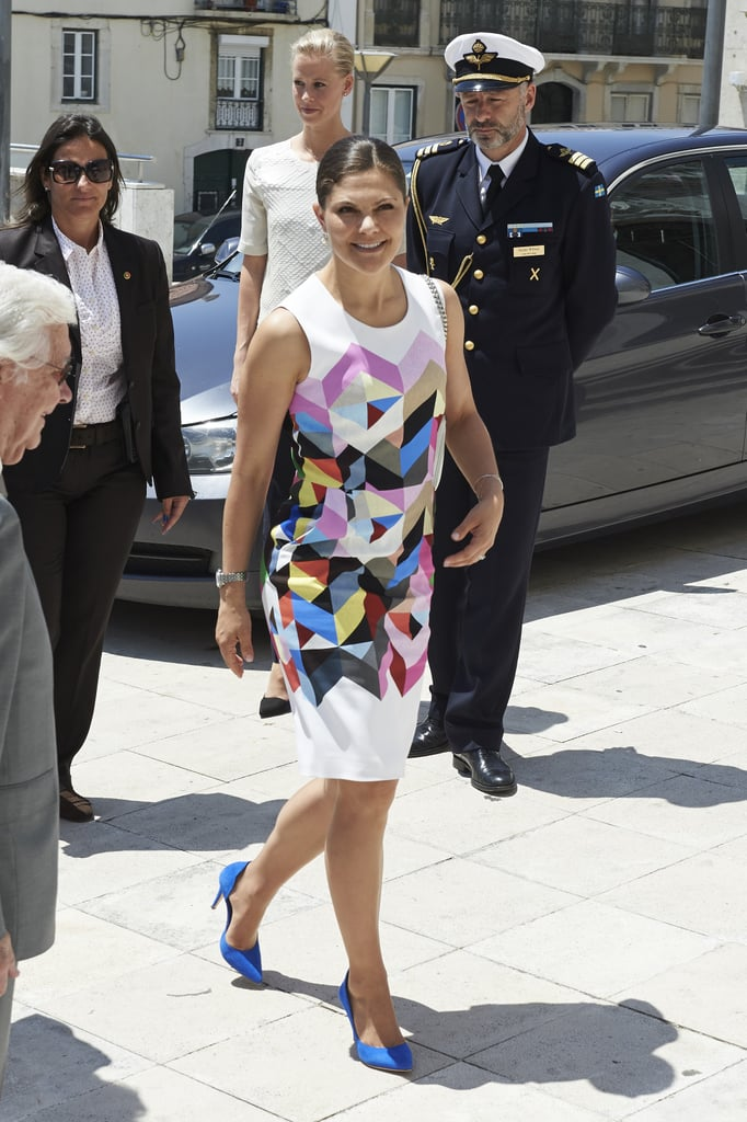 The Crown Princess Isn't Afraid of a Graphic Print