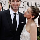 Amanda Peet gives hubby David Benioff a look of love.