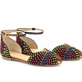The rainbow-colored detailing is sweet, but with a decidedly cooler tribal-inspired feel. These would pair perfectly with a little eyelet dress.  Vionnet Embellished Suede Sandals ($889)
