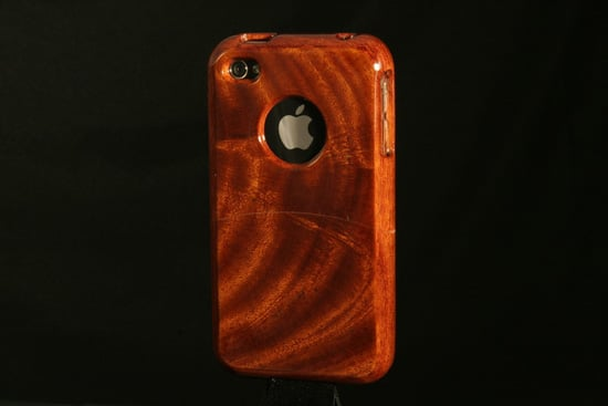 Handcrafted Mahogany Wood iPhone 4 Case ($50)