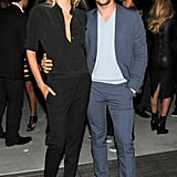 At the DVF afterparty Lily Donaldson and Derek Blasberg made a well-suited pair.