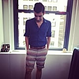 Our editorial assistant Robert Khederian showed off his Summer Friday style in the office.