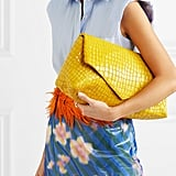 Our Pick: Dries Van Noten Glossed Croc Effect Leather Clutch