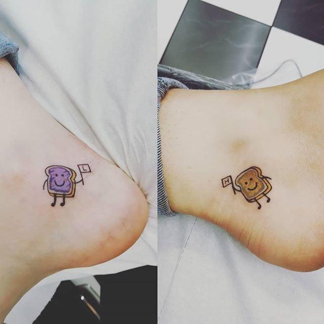 Peanut Butter And Jelly Tattoo Tattoo Ideas T Friend Tattoos