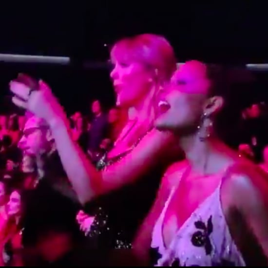 Taylor Swift and Halsey Cheer For Selena Gomez at the AMAs