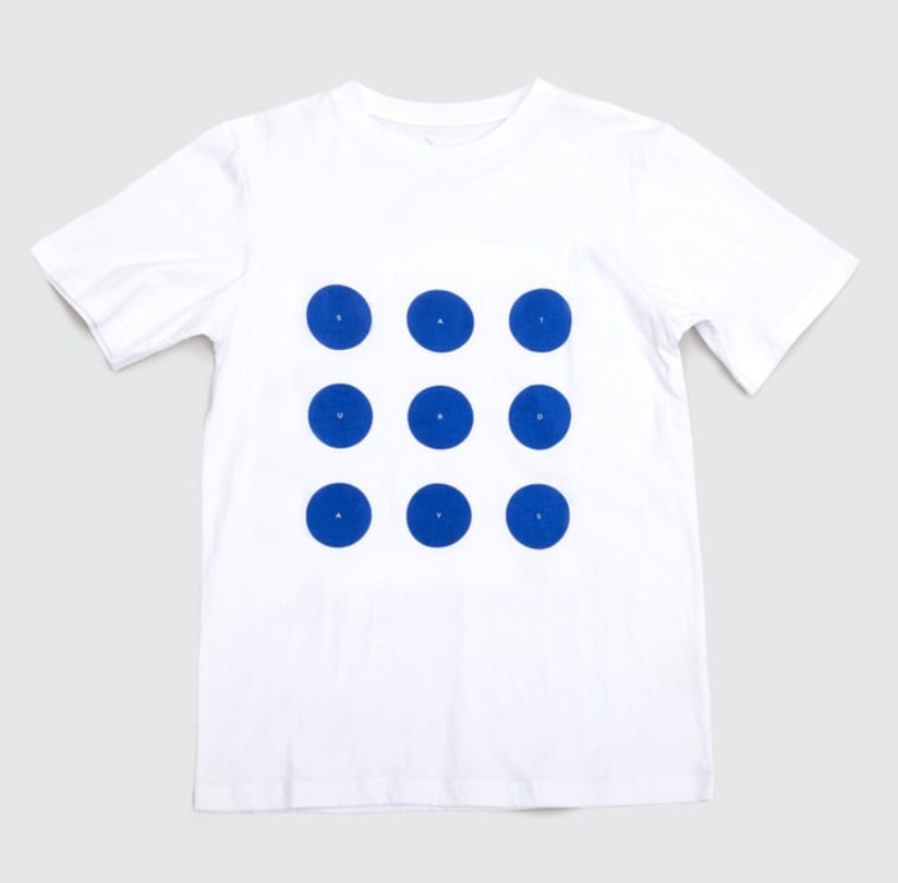 For me, Spring always means a clean slate. And at the moment, there's not much out there that's cleaner, simpler, or more comfortable than the White & Blue Dots T-Shirt ($40) from Saturdays NYC's collaboration with the cult French retailer Colette. — Justin Fenner, Fashion News assistant editor