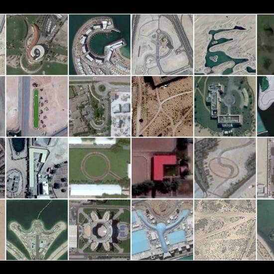 إيجاد الحروف الأبجدية في دبي عبر Earth Google