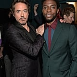 Pictured: Robert Downey Jr. and Chadwick Boseman
