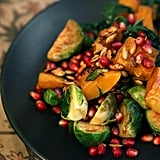Butternut Squash, Brussels Sprouts, Kale, and Pomegranate Mason Jar Salad