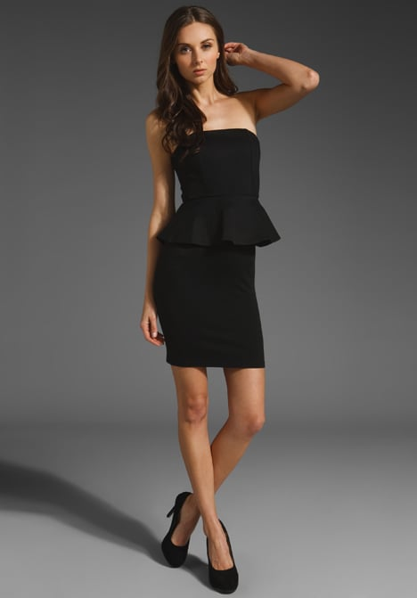 Make a case for the peplum trend in this sexy, strapless silhouette.  Alice + Olivia Mary Strapless Peplum Dress ($330)