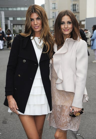 Front Row Guests at the Valentino Spring 2011 Paris Fashion Week Show including Alexa Chung and Olivia Palermo