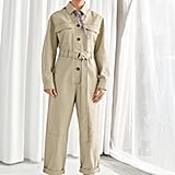 & Other Stories Belted Cotton Utility Jumpsuit