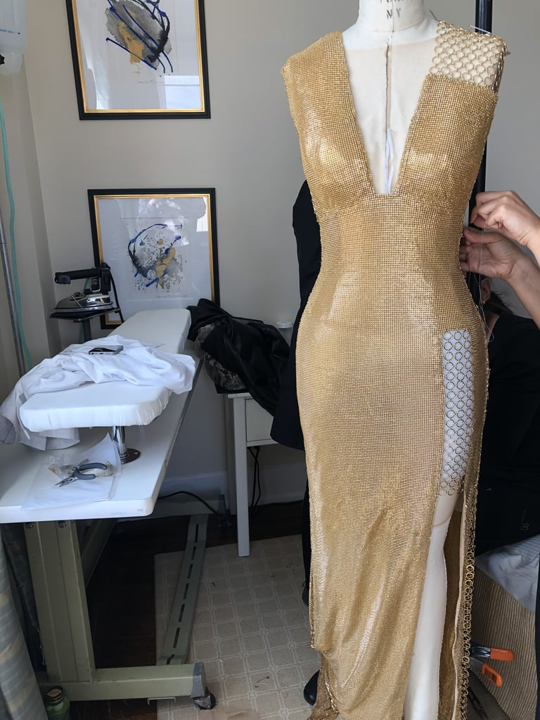 A BTS Shot of Her Gown on the Mannequin