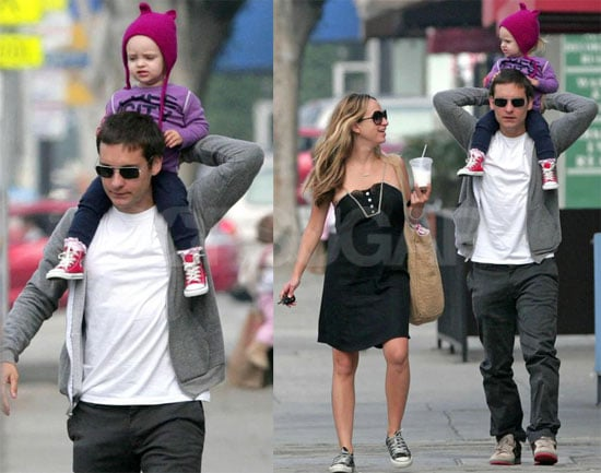 Photos of Tobey Maguire, Jennifer Meyer, Ruby Maguire