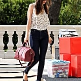 Miranda Kerr recently returned from a trip to Sydney.