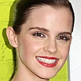 Emma Watson wore bright coloured lips to the LA premiere of The Perks of Being a Wallflower.