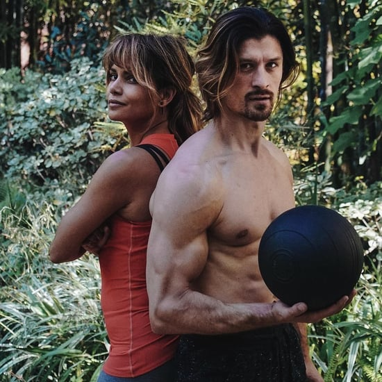 Halle Berry Medicine Ball Workout