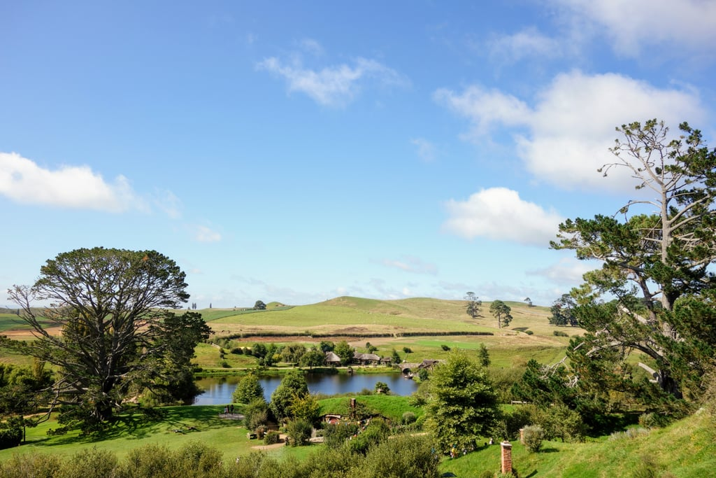 During the tour, you get expansive views of the Shire, located on a family farm in New Zealand.