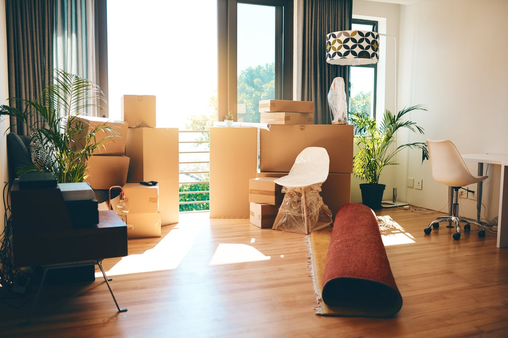 You have boxes of possessions that have moved with you from home to home but you've never gone through.
