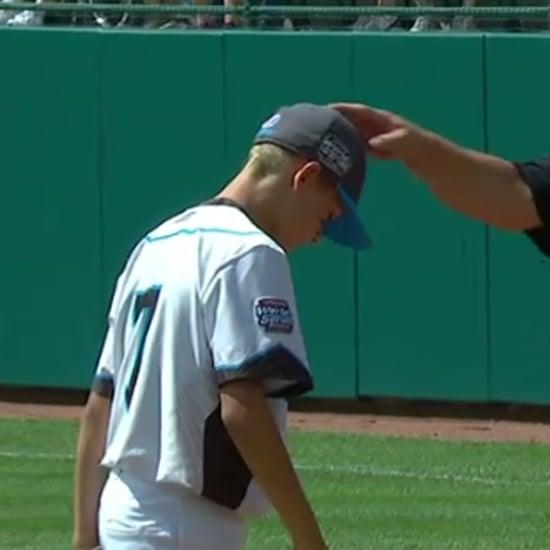 Little League Coach Tells Son He Loves HIm