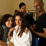 Alessandra is getting ready for a new biofit advert.