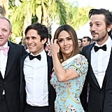 Pictured: Francois-Henri Pinault, Gael García Bernal, Salma Hayek, Diego Luna, and Alejandro González Iñarritu.
