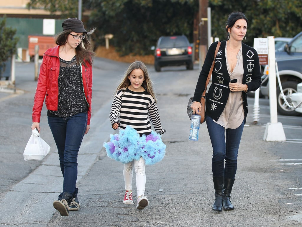Courteney Cox and Coco Arquette chatted with a friend.