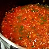 Dinner: Purée Beans Into Tomato Sauce