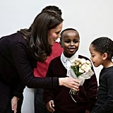 Kate Middleton With Little Boy at Portobello Trust Dec. 2017