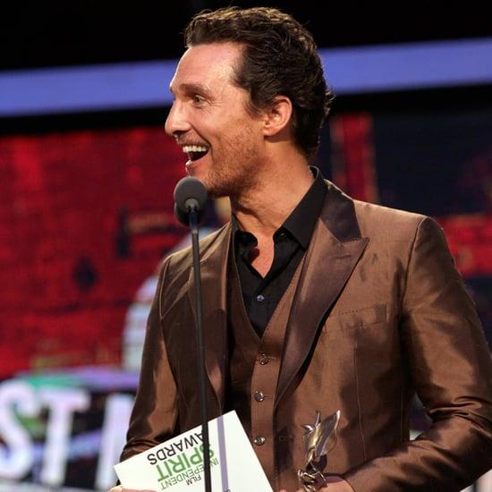 Matthew McConaughey at the Spirit Awards 2014