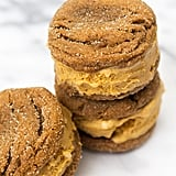 Pumpkin Gingersnap Ice Cream Sandwiches