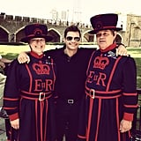 Ryan Seacrest crossed paths with some of England's finest in the days leading up to the games. Source: Instagram user ryanseacrest