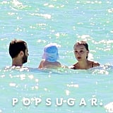 Natalie Portman Vacations in a Bikini With Benjamin and Aleph